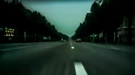 Paris leere Straßen in der Nacht