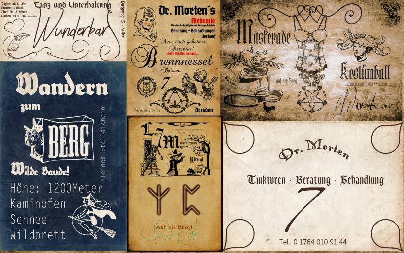 plakatwand alte werbung reklame deutschland dienstleistungen